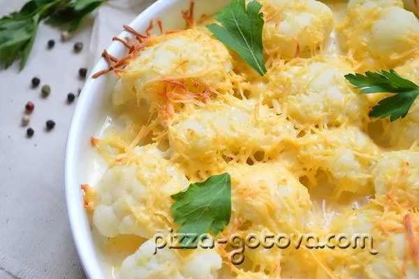 цветная капуста в кляре в духовке рецепт с фото